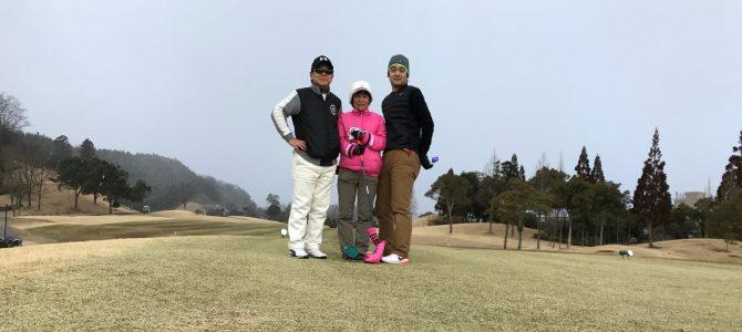 雪の日ゴルフ